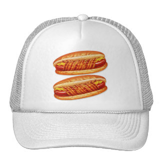 Vintage Food Bacon Wrapped Hot Dogs Trucker Hat