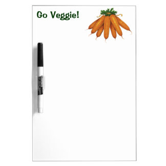 Vintage Food, Bunch of Organic Carrots Vegetables Dry Erase Board