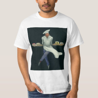 Vintage Food Business, Baker with Pastry Desserts T-Shirt
