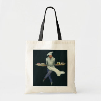 Vintage Food Business, Baker with Pastry Desserts Tote Bag