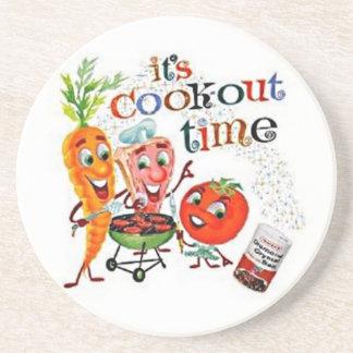 VINTAGE FOOD COOKOUT AD Coaster