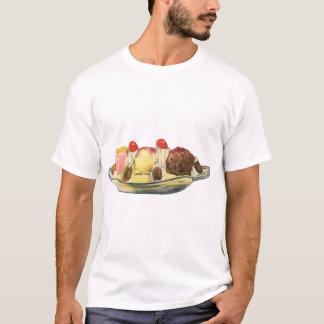 Vintage Food Desserts, Banana Split Cherries T-Shirt