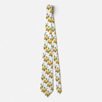 Vintage Food Fruit, Apricot Peach by Redoute Neck Tie