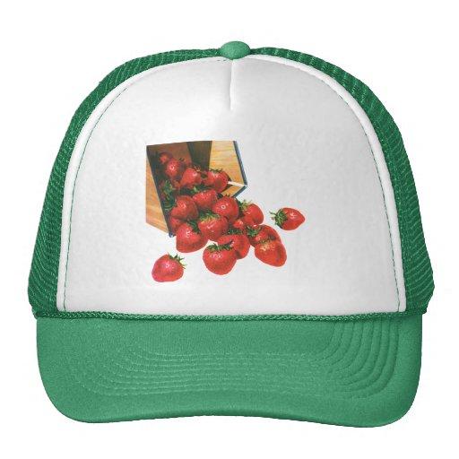 Vintage Food Fruit Berries, Strawberries in Basket Trucker Hat