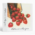 Vintage Food Fruit Cherries Strawberries Basket Binder