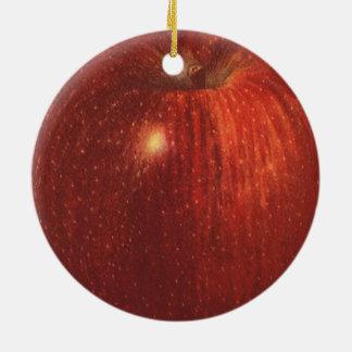 Vintage Food Fruit, Organic Red Delicious Apple Ceramic Ornament
