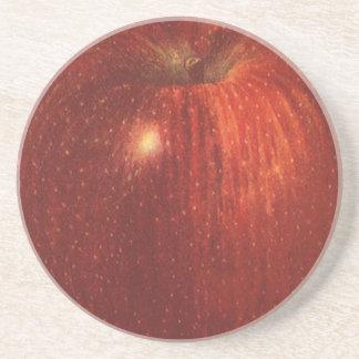 Vintage Food Fruit, Organic Red Delicious Apple Drink Coaster