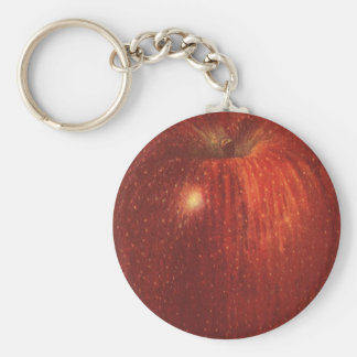 Vintage Food Fruit, Organic Red Delicious Apple Basic Round Button Keychain
