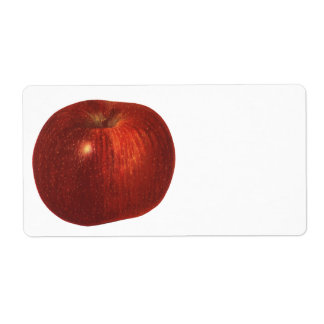 Vintage Food Fruit, Organic Red Delicious Apple Personalized Shipping Label