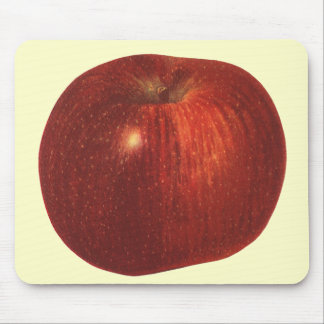 Vintage Food Fruit, Organic Red Delicious Apple Mouse Pad