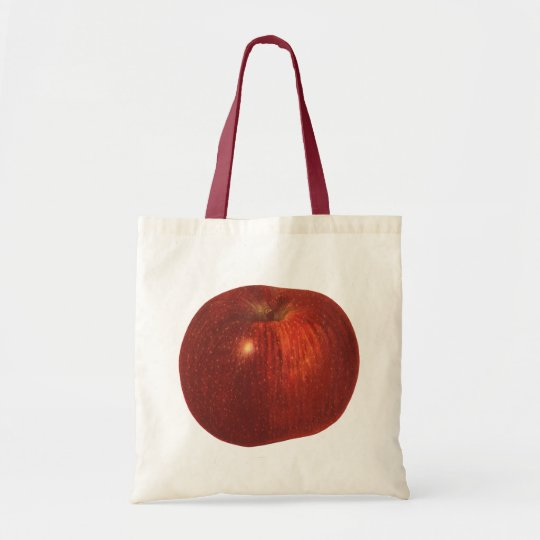 Vintage Food Fruit, Organic Red Delicious Apple Tote Bag