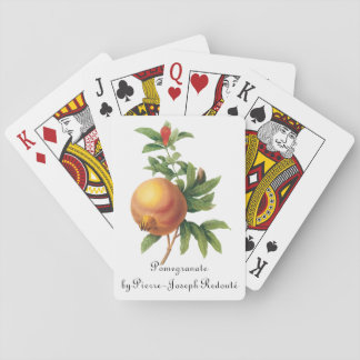 Vintage Food Fruit, Pomegranate by Redoute Playing Cards