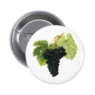 Vintage Food Fruit, Red Wine Organic Grape Cluster Pin