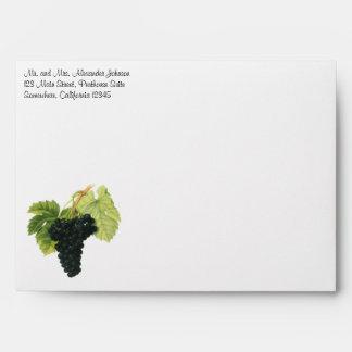 Vintage Food Fruit, Red Wine Organic Grape Cluster Envelopes