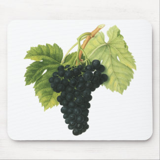 Vintage Food Fruit, Red Wine Organic Grape Cluster Mouse Pads