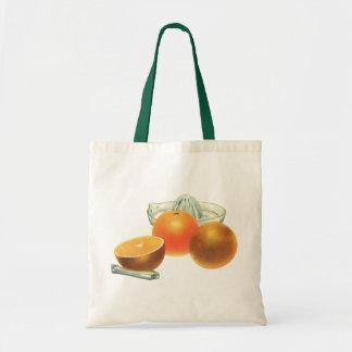Vintage Food Fruit, Ripe Oranges Juicer Breakfast Tote Bag