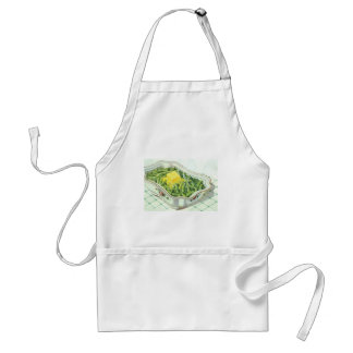 Vintage Food, Green Bean Casserole with Butter Adult Apron