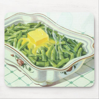Vintage Food, Green Bean Casserole with Butter Mouse Pad
