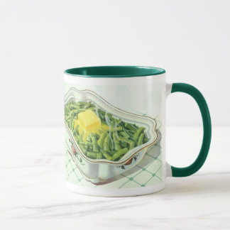 Vintage Food, Green Bean Casserole with Butter Mug