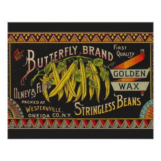 Vintage Food Green Bean Vegetable Advertising Poster