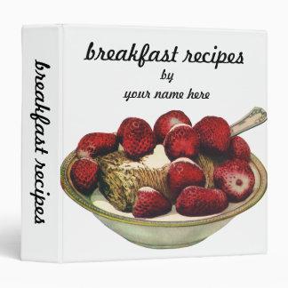 Vintage Food Healthy Breakfast Cereal Strawberries Binder