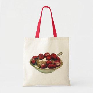 Vintage Food Healthy Breakfast Cereal Strawberries Tote Bag