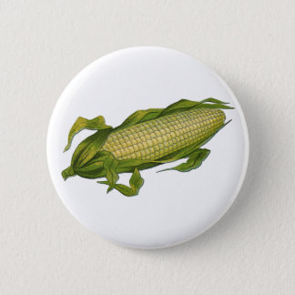 Vintage Food, Healthy Vegetables, Corn on the Cob Button