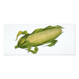 Vintage Food, Healthy Vegetables, Corn on the Cob Card