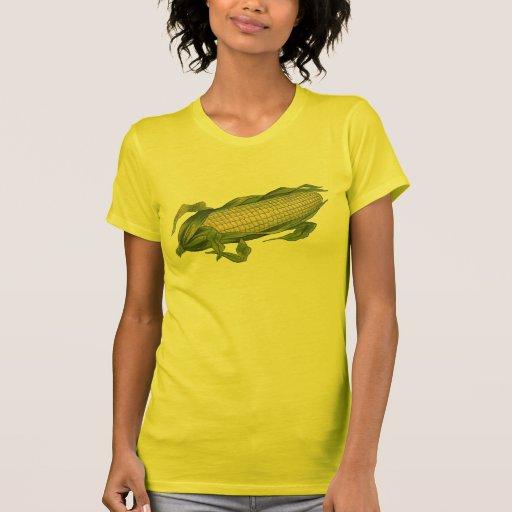 Vintage Food, Healthy Vegetables, Corn on the Cob T-shirts