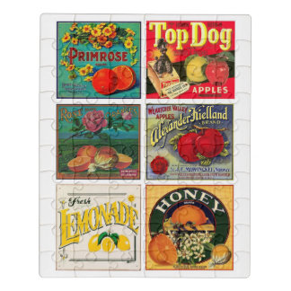 vintage food labels jigsaw puzzle