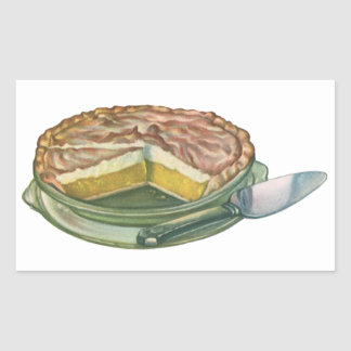 Vintage Food, Lemon Meringue Pie Dessert Stickers