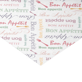 "Vintage Food Lover's Gourmet Pattern Bon Appetit 10"" X 15"" Tissue Paper"
