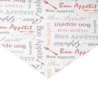Vintage Food Lover's Gourmet Pattern Bon Appetit Tissue Paper