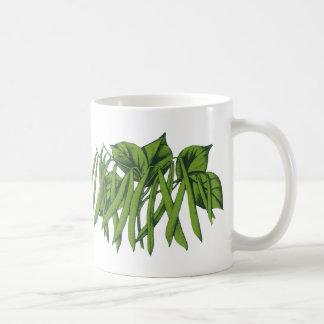 Vintage Food, Organic Green Beans Vegetables Coffee Mug