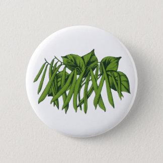 Vintage Food, Organic Green Beans Vegetables Pinback Button
