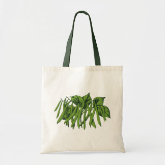 Vintage Food, Organic Green Beans Vegetables Tote Bag