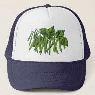 Vintage Food, Organic Green Beans Vegetables Trucker Hat