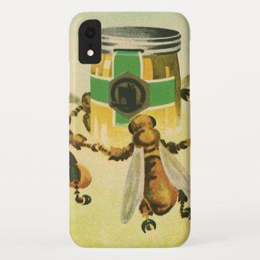 Vintage Food, Organic Honey Bees Dancing Jar iPhone XR Case