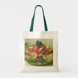 Vintage Food, Organic Mixed Green Mesclun Salad Budget Tote Bag