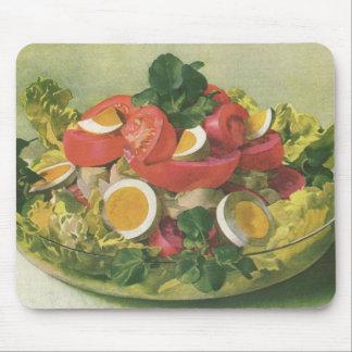 Vintage Food, Organic Mixed Green Mesclun Salad Mouse Pad