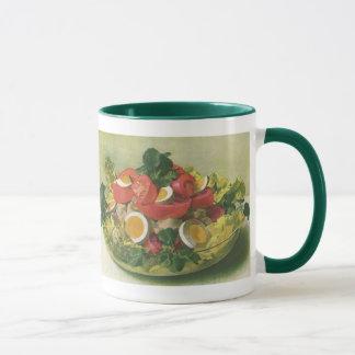 Vintage Food, Organic Mixed Green Mesclun Salad Mug