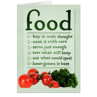 Vintage Food Poster Card