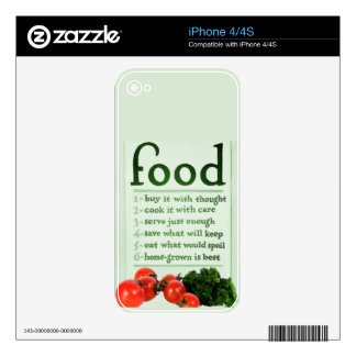Vintage Food Poster iPhone 4 Decal
