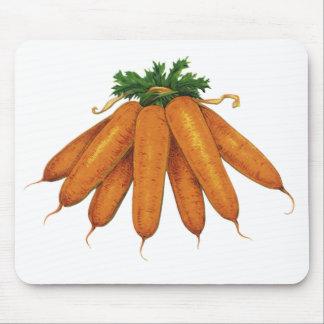 Vintage Food, Vegetables; Bunch of Organic Carrots Mousepad