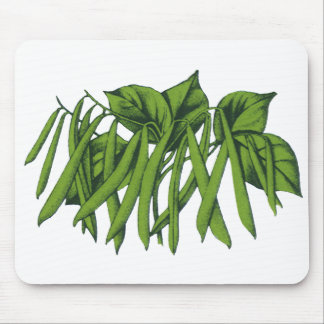 Vintage Food, Vegetables, Organic Green Beans Mouse Pad