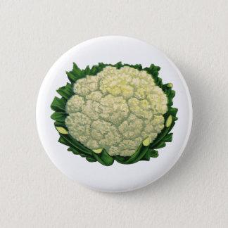 Vintage Food Vegetables Veggies Cauliflower Pinback Button