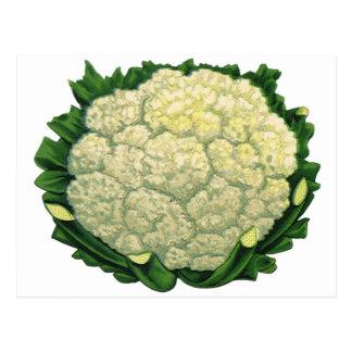 Vintage Food Vegetables Veggies Cauliflower Post Cards