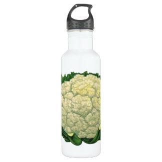Vintage Food Vegetables Veggies Cauliflower Water Bottle