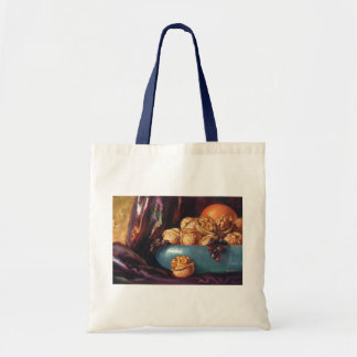 Vintage Food, Walnuts and Fruit in a Blue Bowl Bags