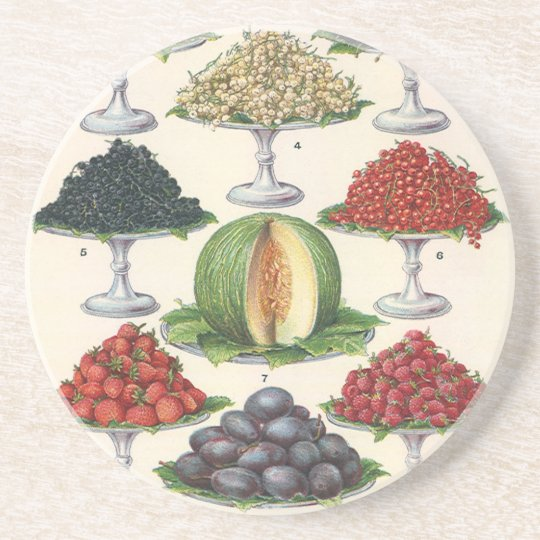 Vintage Foods Assorted Fruit on Trays for Catering Drink Coaster
